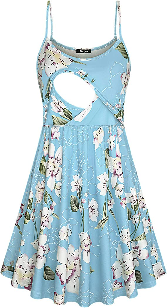 Quinee Women S Spaghetti Strap Maternity Dress Nursing Breastfeeding Dresses At Amazon Women S Clothing Store