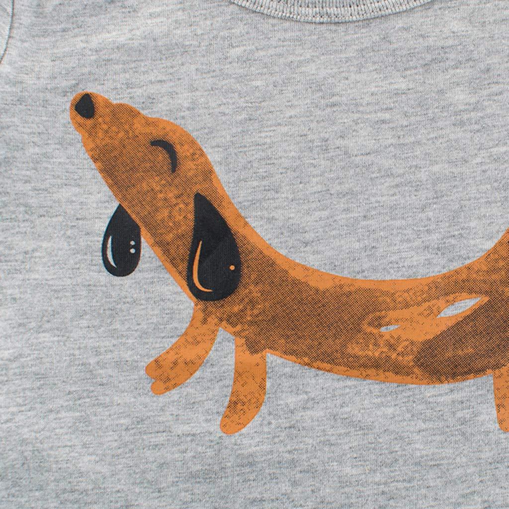 FeiliandaJJ TM Toddler Kids Baby Boys Summer Short Sleeve Cartoon Print T Shirt Tops Tee Base Shirt Clothes Baby Boys Tops T-Shirt