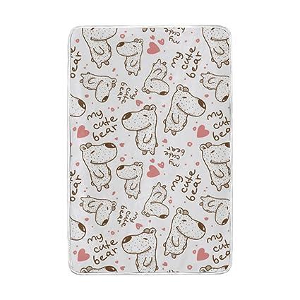 Amazon.com  U LIFE Cute Bears Animal Soft Fleece Throw Blanket ... 58bf4e7586