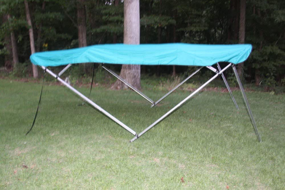 Complete Kit and Hardware 1 to 4 Business Day DELIVERY 79-84 Wide Frame Canopy Vortex New Teal//Aquamarine 4 Bow Bimini Top 8 Long 54 High
