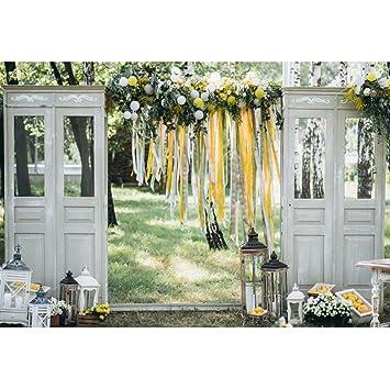 Amazon Com Wedding Ceremony Backdrop 8x6 5ft Feative Arch
