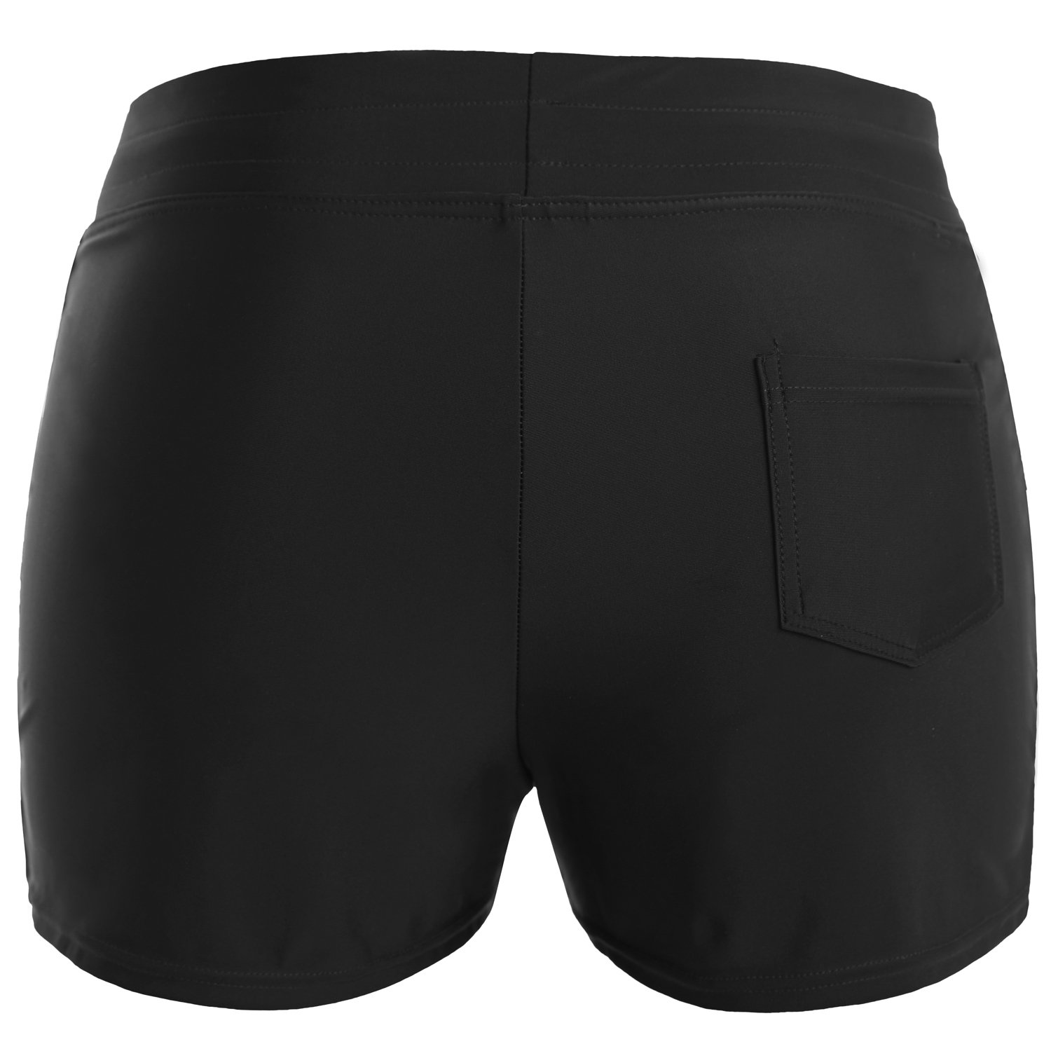 Vegatos Womens Solid Boardshorts Swimming Shorts Swim Bottoms Surfing Boyshorts Black by Vegatos (Image #3)