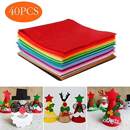 Tronisky Hoja de Fieltro, 40 Colores No Tejido Tela de Fieltro Suave Felt Fabric Sheets para para Manualidades Patchwork Costura DIY Craft Trabajo, 15 ...