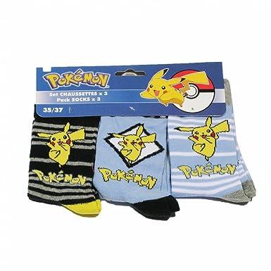 pack de 3 chaussettes pokemon 3538