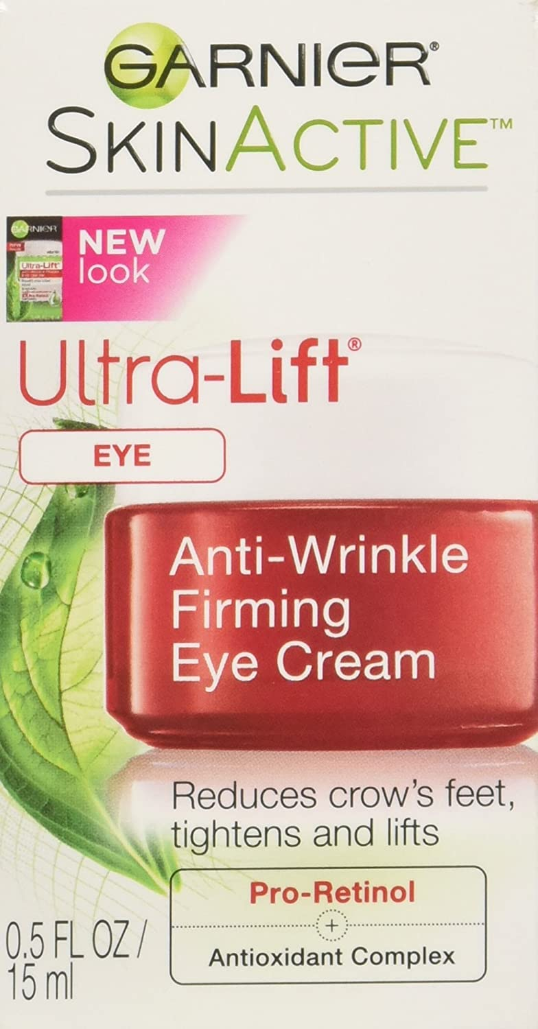 Garnier SkinActive Ultra-Lift Anti-Wrinkle Eye Cream with Pro-Retinol 0.5 oz: Beauty