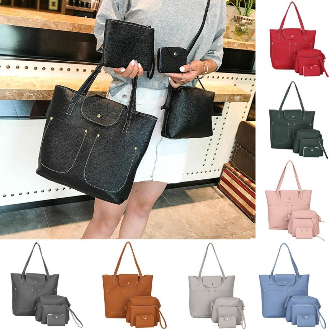Amazon.com  Clearance Sale! 4Pcs Women Pattern Leather Handbag+Crossbody Bag +Messenger+Card ❤ ZYEE  ZYEE🌸🎈Big discount for summer new 🎈🌸 87d1b91bc0f0c