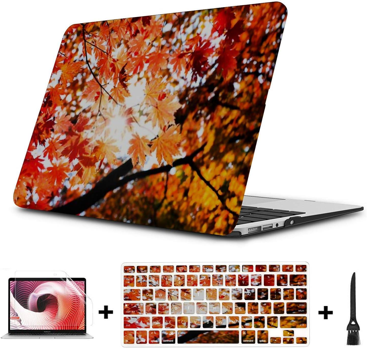 MacBook Pro Case Red Fall Maple Leafs Illuminated Background MacBook Pro 13