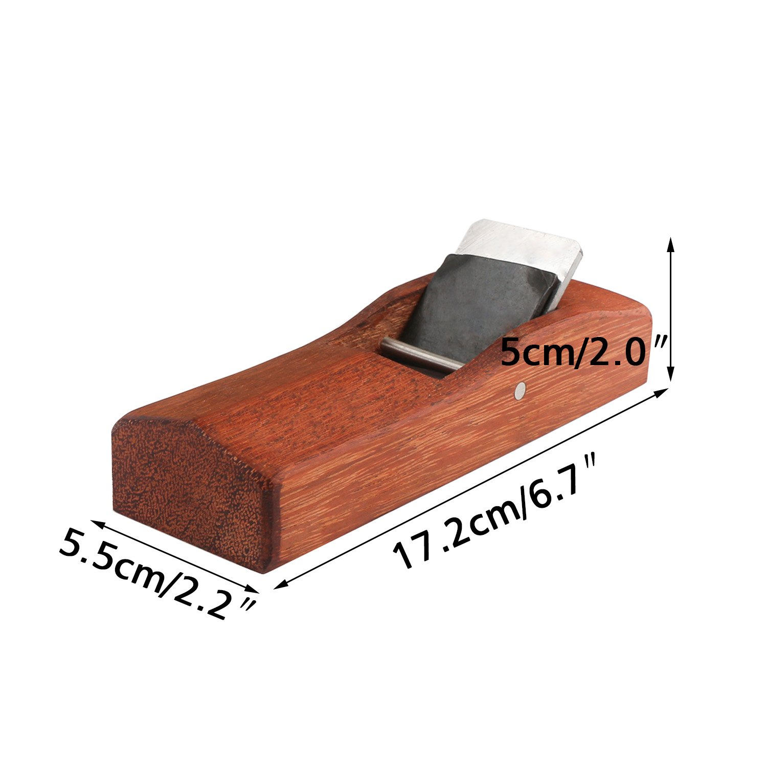 EnPoint™ Woodwork Japanese KANNA Adjustable Block Plane 55MMx 172MM Streamline Hand Planer Bench Plane Flat Base Double Edge Smooth Surface Carpenter Tool for Woodworker Table Chair Seat Leg by EnPoint (Image #2)