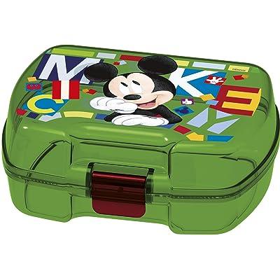 ALMACENESADAN 2001, Sandwichera Premium Rectangular Disney Mickey Mouse Watercolors, Producto de plástico; Libre BPA; Dimensiones 18x14x7 cm: Juguetes y juegos