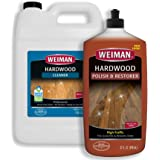Weiman Hardwood Floor Cleaner and Polish - 128 Ounce Cleaner and 32 Ounce Polish - High-Traffic Hardwood Floor, Natural Shine
