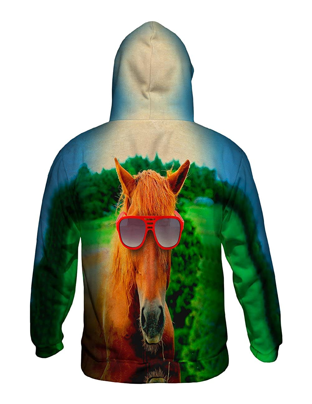 Allover Print Red Horse Beauty Yizzam Mens Hoodie Sweater