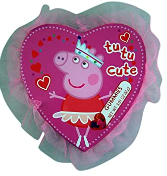 Peppa Pig Valentineu0027s Day Princess Tutu Heart Box With Gummy Candy, ...
