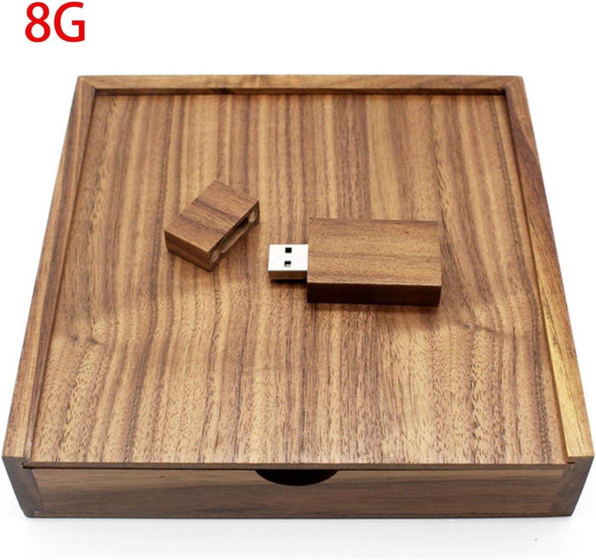 Merlove Walnut Photo Album Box USB Flash Drive 8GB 16GB 32GB 64GB USB2.0 Memory Stick