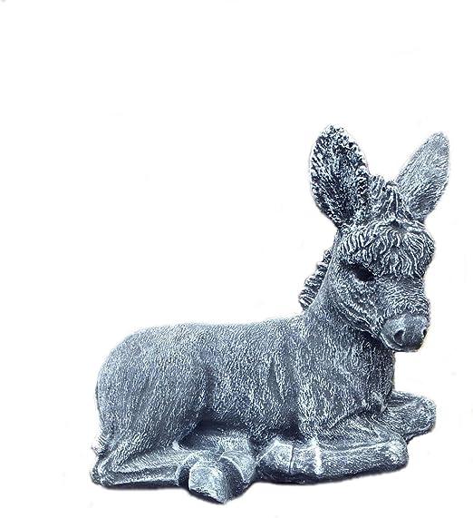piedra Figura Burro caballo Animales Figura Jardín Decoración Jardín figuras piedra figuras Frost libre de piedra Piedra de gres: Amazon.es: Jardín