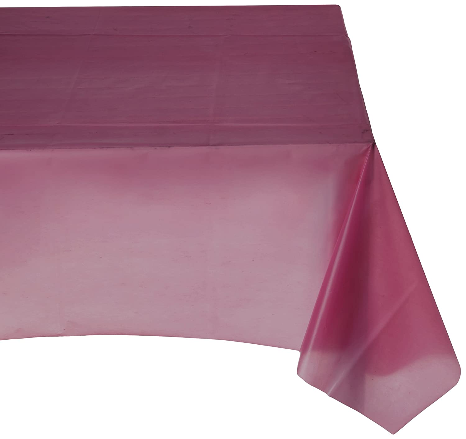 Amscan Rectangular Plastic Table Cover | Berry Red | 54' x 108' | Party Supply | 12 ct.