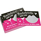 Pack of 30 Bachelorette Party Game - Bachelorette Dare Cards Scratch Off Cards - Perfect for Girls Night Out, Bridal Parties, Bridal Showers, Hot Pink & Black Cards