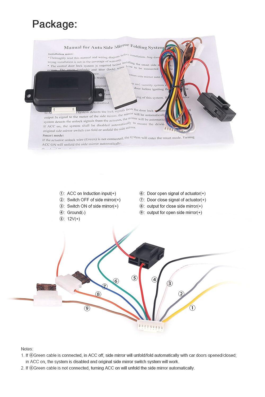 Erisin Auto Car Side Rear View Mirror Folding Closer System Modules Lock Wiring Diagram Intelligent Es211 Motorbike