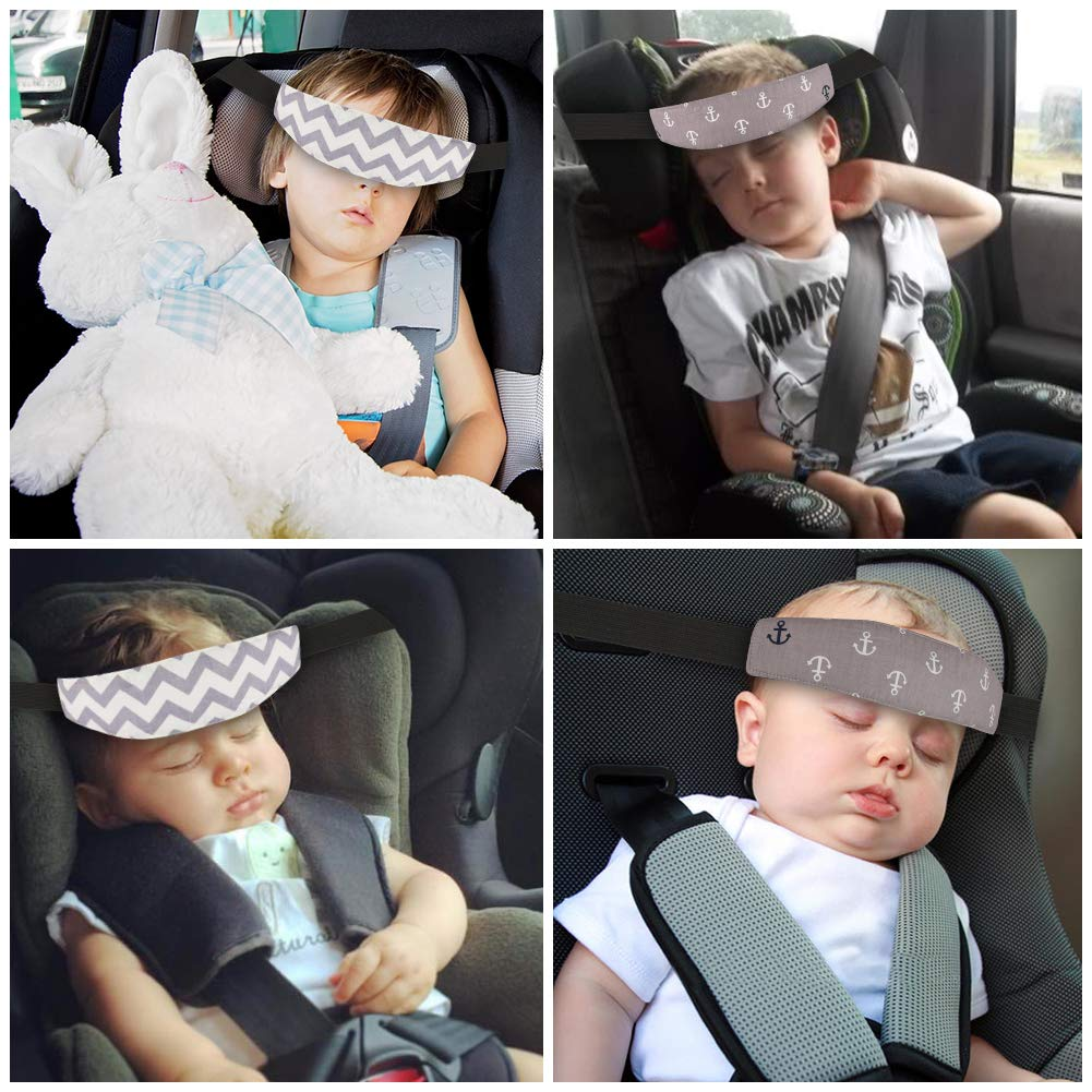 976db639d1d Atomcool 2 Pack Baby Car Seat Head Support Band Strap for Car Seats Stroller  Headrest Sleeping