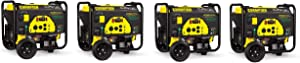 Champion 3800-Watt Dual Fuel RV Ready Portable Generator with Electric Start (Pack of 4)
