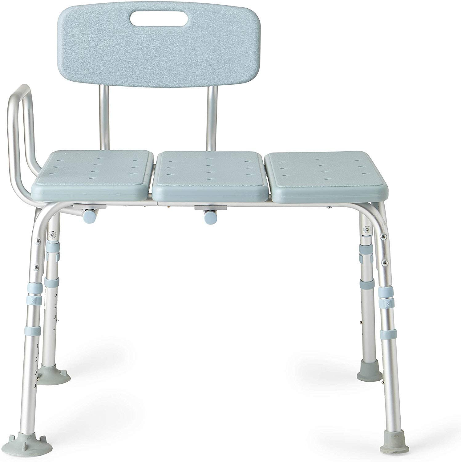 Medline Tub Transfer Bench With Microban Antimicrobial Protection, for Use as A Shower Bench or Bath Seat, Blue: Health & Personal Care