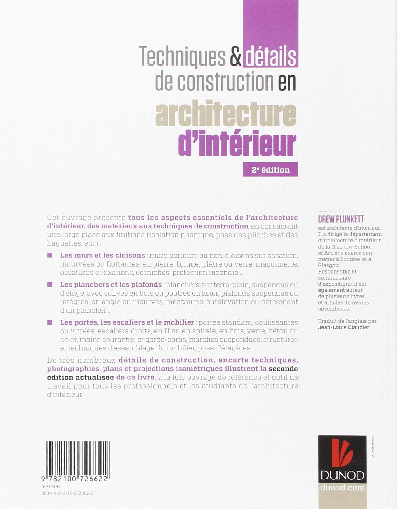 Techniques et détails en construction : Architecture d\'intérieur ...