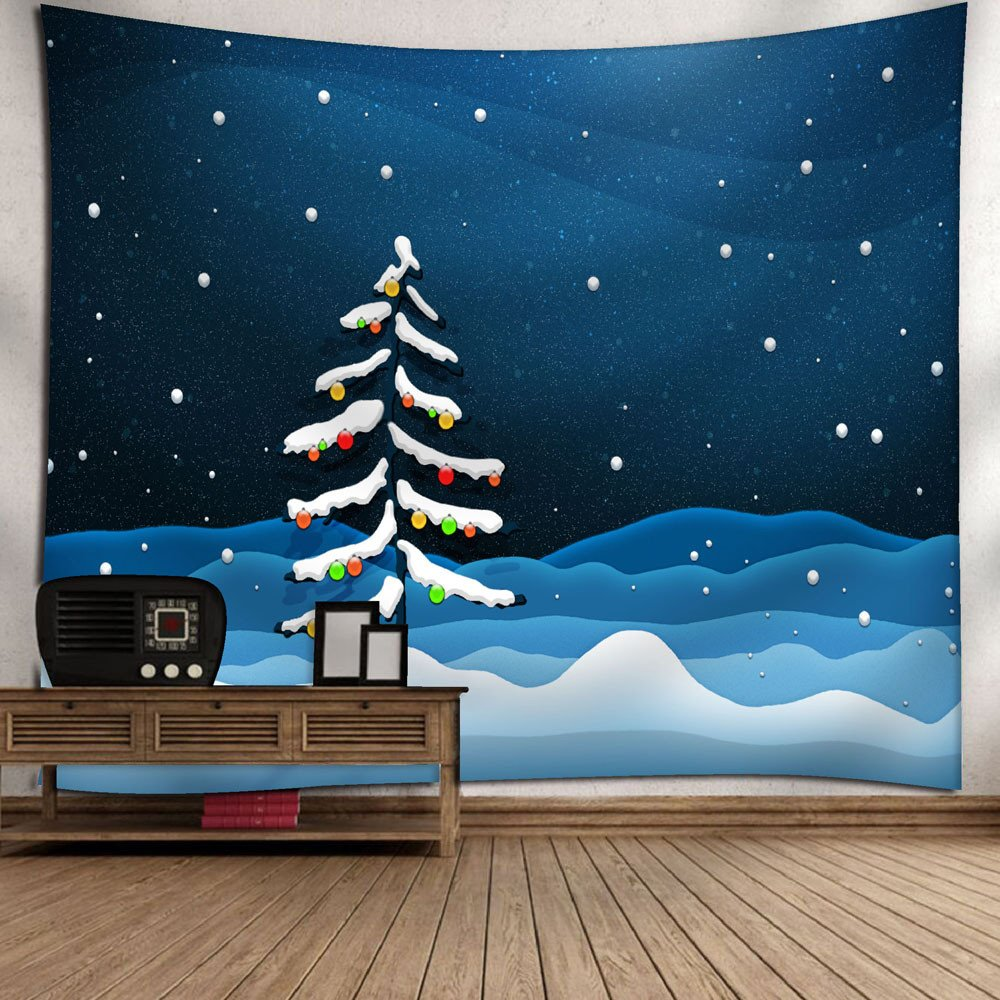 Weiliru Christmas Tapestry Wall Hanging Tree Wall Tapestry for Bedroom Living Room Dorm Party Wall Decor