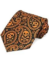 TieMart Men's Halloween Paisley Necktie