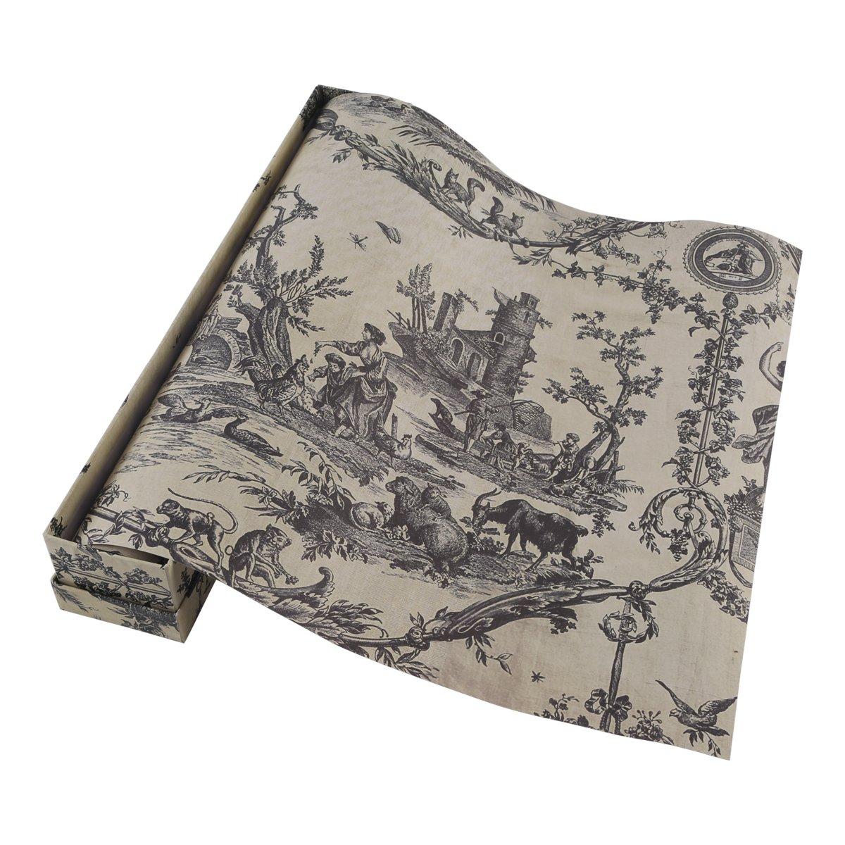 Neoviva Vanilla Scented Drawer Liner Gift Box, Pack of 6 Sheets, Retro Castle Garden