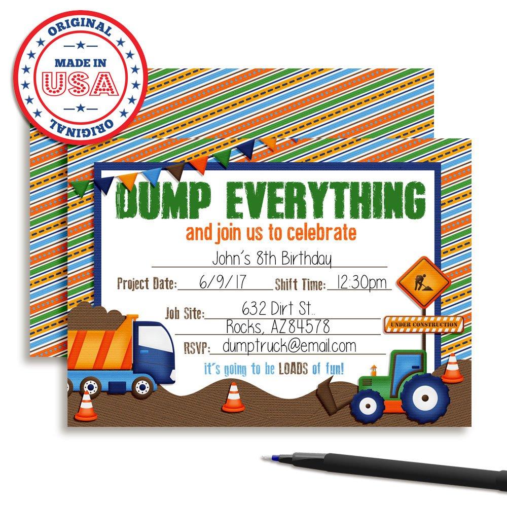 Amazon.com: Dump Everything Construction Site Birthday Party ...