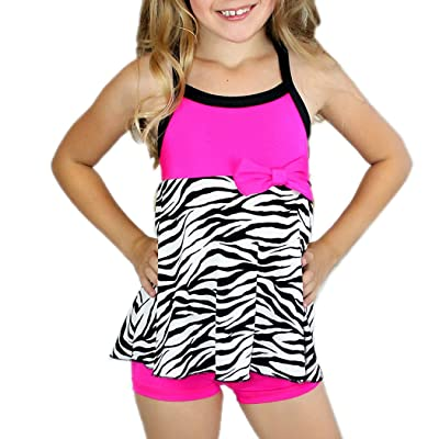 Arshiner Kid Girls Tankini Two Piece Polka Dot Swimsuit