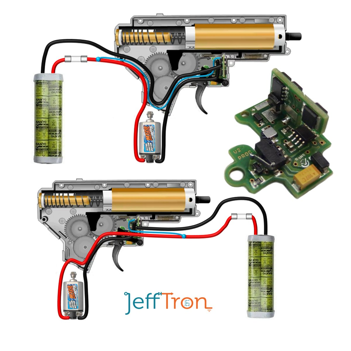 Jefftron Airsoft Mosfet Processor Unit V2 Micro Processor Trigger  Replacement: Amazon.co.uk: Sports & Outdoors