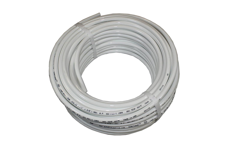100 feet Length 1//4 ID x 3//8 OD Advanced Technology Products 1//4 ID x 3//8 OD ATP Surethane Polyurethane Plastic Tubing White ATP