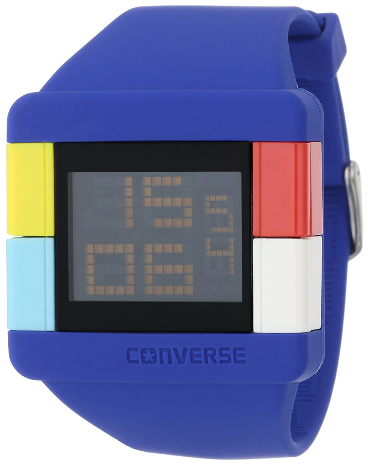Amazon.com: Converse Mens VR014100 High Score Black Digital Dial and White Silicone Strap Watch: Watches