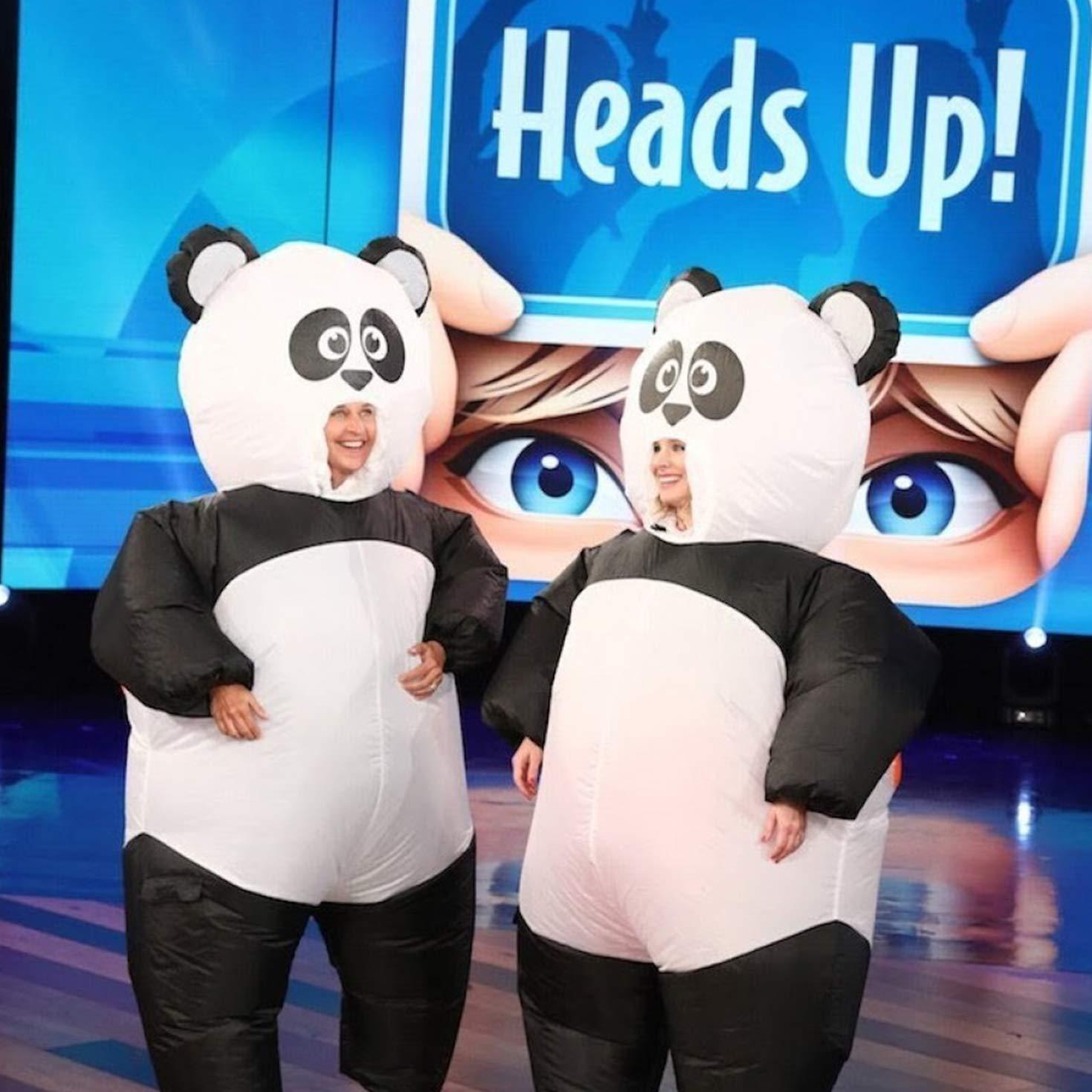 MORPH Panda Gigante Hinchable Blow Up Disfraz Disfraz – Talla única Compatible