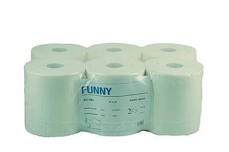 Rollo de toallas de mano de papel de Funny, 6/Midi, 1