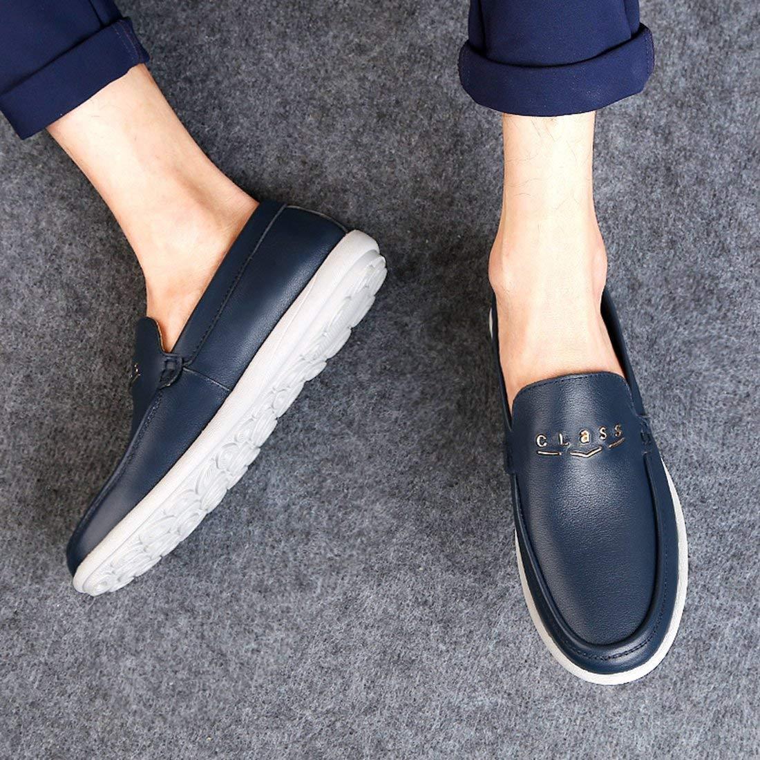 Qiusa Qiusa Qiusa Herren Gummisohle Slip-on Dunkelblau Synthetische Penny Loafers UK 9 (Farbe   -, Größe   -) 06b6c6