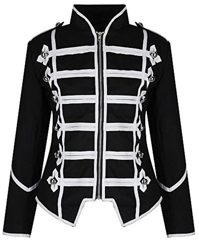 Ro Rox Womens Military Parade Emo Punk Drummer Jacket at Amazon Womens Coats Shop