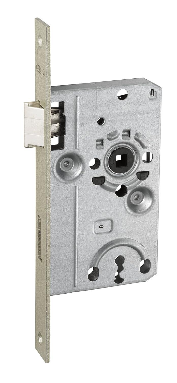 ABUS T/ür-Einsteckschloss mit Buntbartschl/üssel TK20 Stumpf S R silber f/ür DIN-rechts T/üren 57201