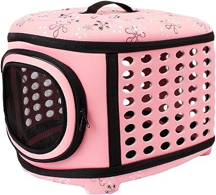 JEELINBORE Stabile Transportbox Sportlich Kleine Transporttasche Hundetasche für Tiere Katze Hunde Faltbare Haustier Tasche