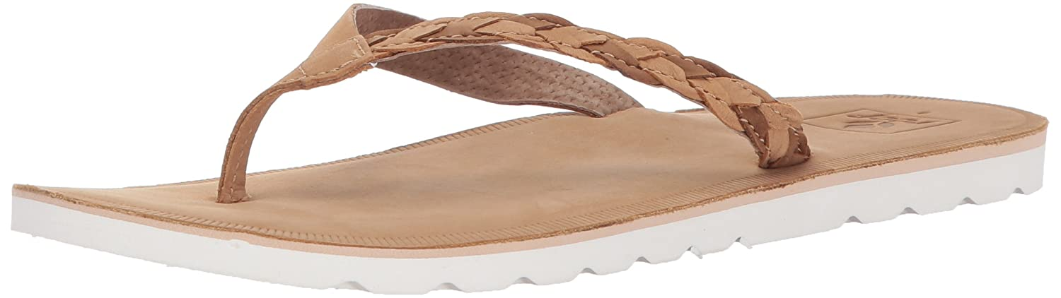 ef1376ff77 Reef Womens Sandal Voyage Sunset | Premium Real Leather Flip Flops for  Women With Soft Cushion Footbed | Waterproof