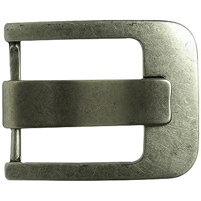 Fronhofer Boucle de ceinture classique dans un coloris argent vieilli, boucle moderne, large griffe, unisexe, mixte pour les ceintures échangeables de 4,5 cm, 18257