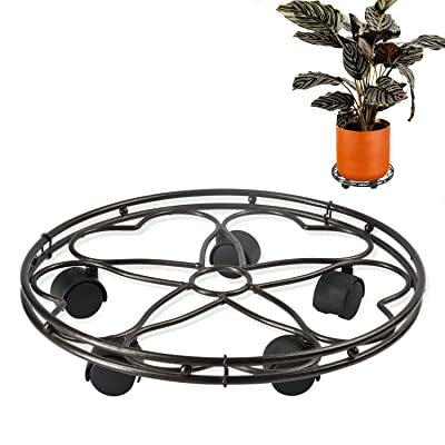 CERBIOR Plant Caddy Heavy Duty Metal Plant Stand with Rolling Wheels Indoor Outdoor 180 Lbs Strong and Sturdy Design 15Inches Bronze): Home Improvement