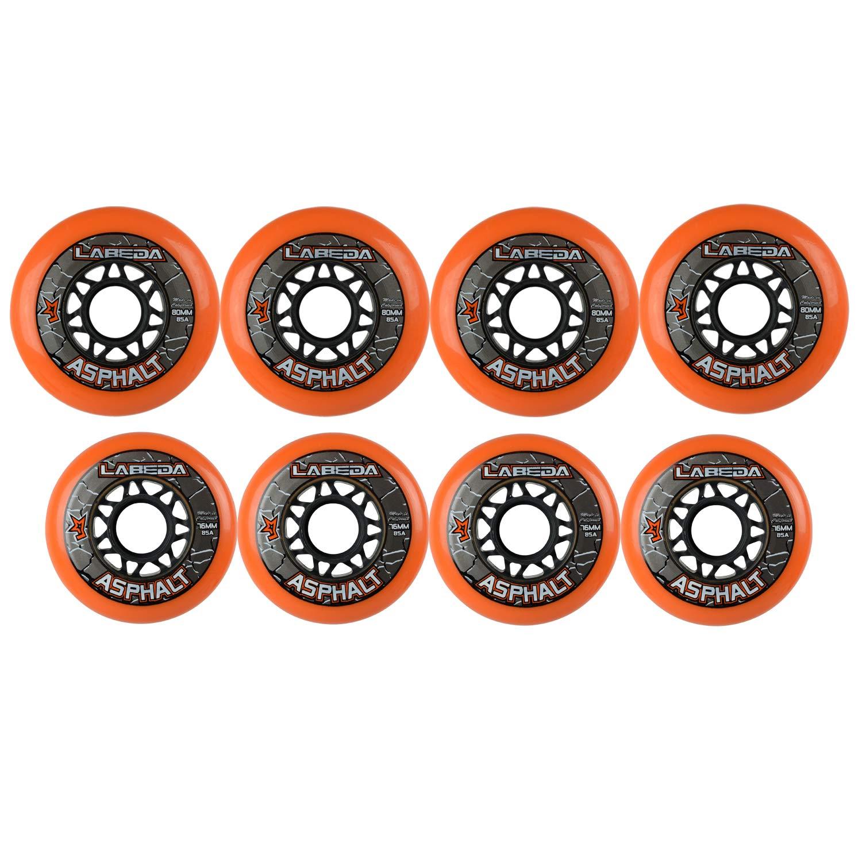 LABEDA WHEELS Roller Hockey GRIPPER ASPHALT HILO 4-76mm Wheels/4-80mm Wheels by Labeda