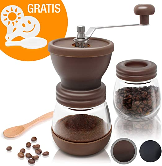 Amazy Molinillo de Cafe Manual – Molinillo de Ceramica para ...