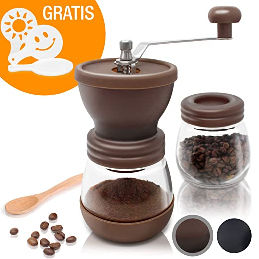 Amazy Molinillo de Cafe Manual - Molinillo de Ceramica para ...