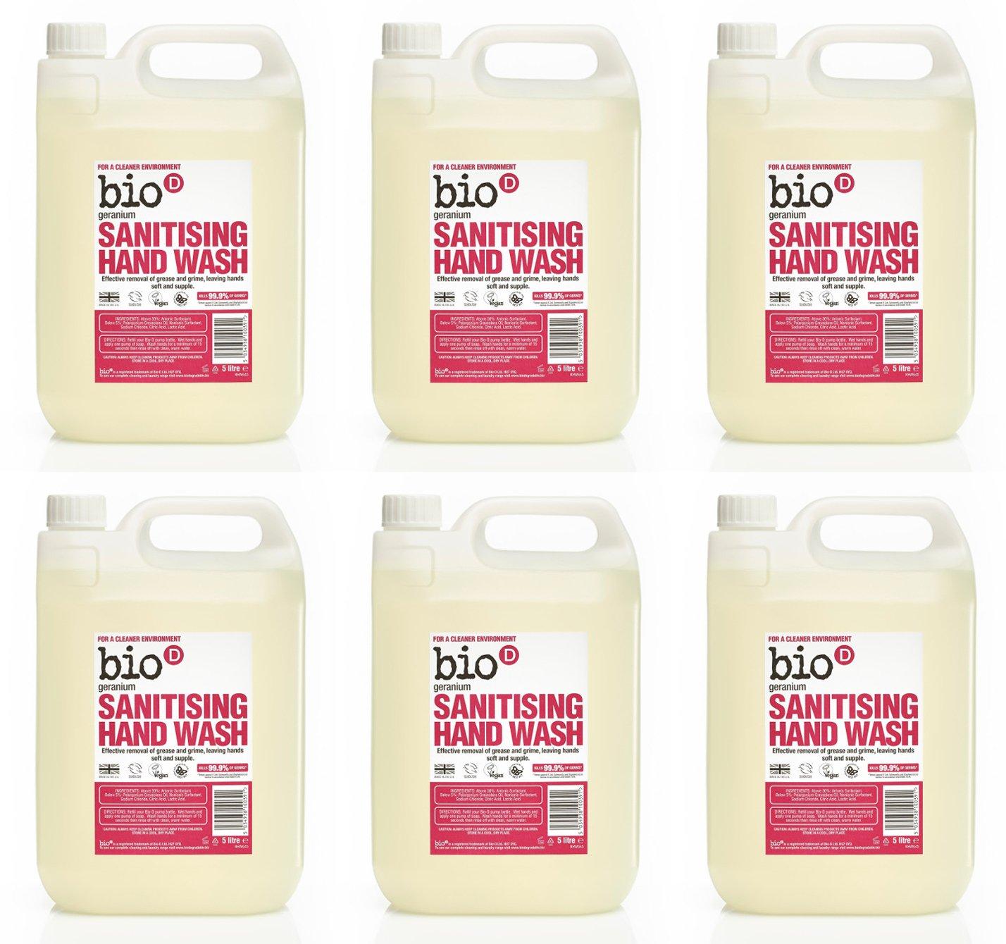 Bio-D Geranium Sanitising Hand Wash, 5 litre 77879