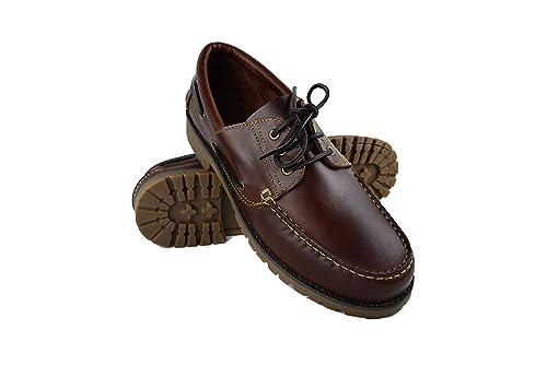 Jomos - Zapatos de cordones de Piel para hombre marrón marrón, color marrón, talla 50