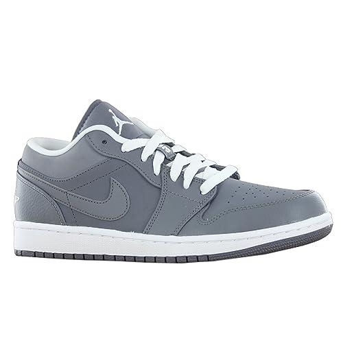 promo code 0afa2 27b25 Nike  553558-005  AIR JORDAN AJ 1 RETRO LOW MENS SNEAKERS AIR JORDANCOOL  GREY WHITE-COOL GREYM  Amazon.ca  Shoes   Handbags