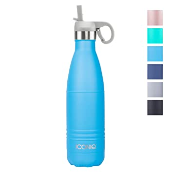 Amazon.com: ICONIQ Botella de agua aislada al vacío de acero ...
