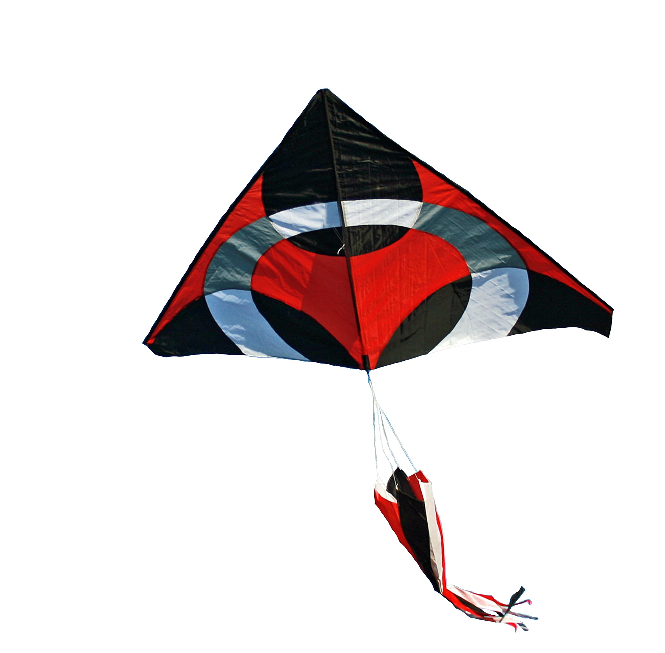 Weifang New Sky Kites Giant delta Ring iKite Delta Shape Premium Large Kite (Red) 6FT Wide